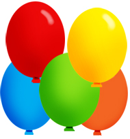 party clip art balloons