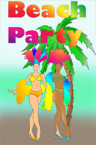 party clip art beach party girls palm