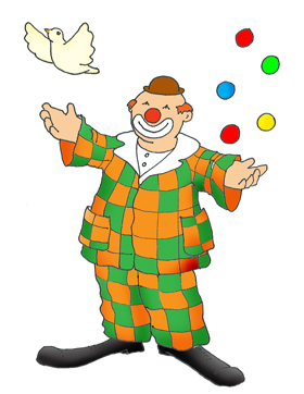 party clipart clown juggling