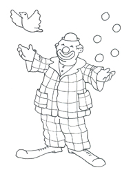 Sketch party clip art clown
