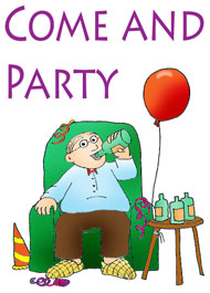 party clip art come and party
