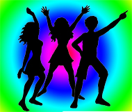 party clipart dance colours