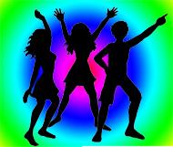 party clipart dance colours