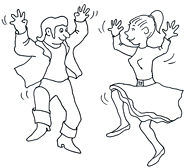 party clip art dancing rock