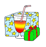 free party clipart drinks presents