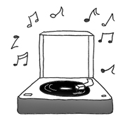 party clipart old grammophone