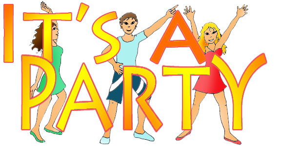 party clip art is's a party