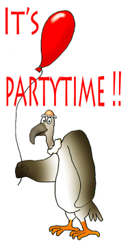 vulture party clip art balloon