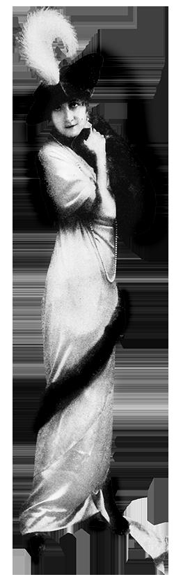 ladies fashion party dress 1917