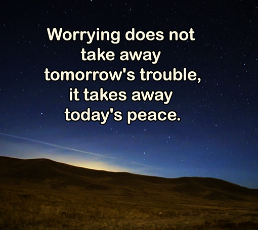 picture quote about life and worries