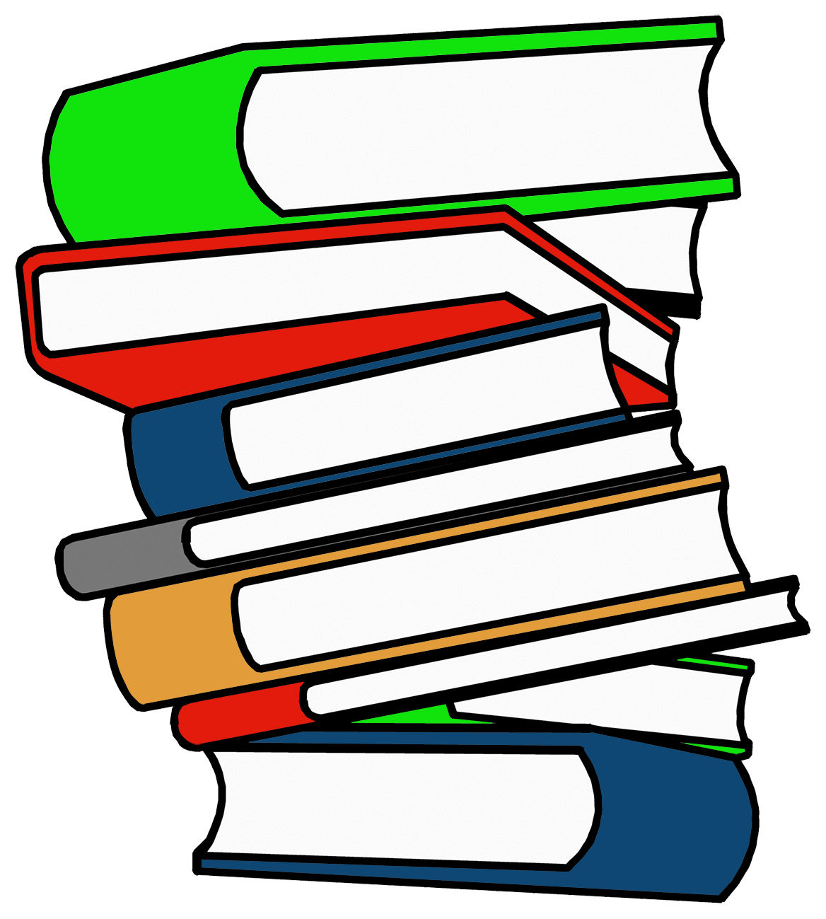 stack of books in different colors