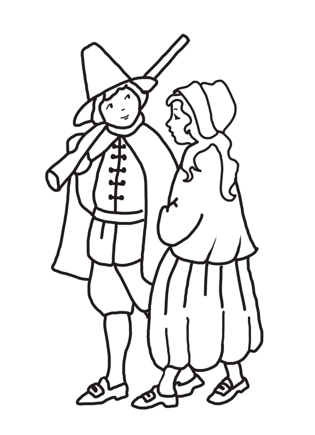 pilgrim boy and pilgrim girl
