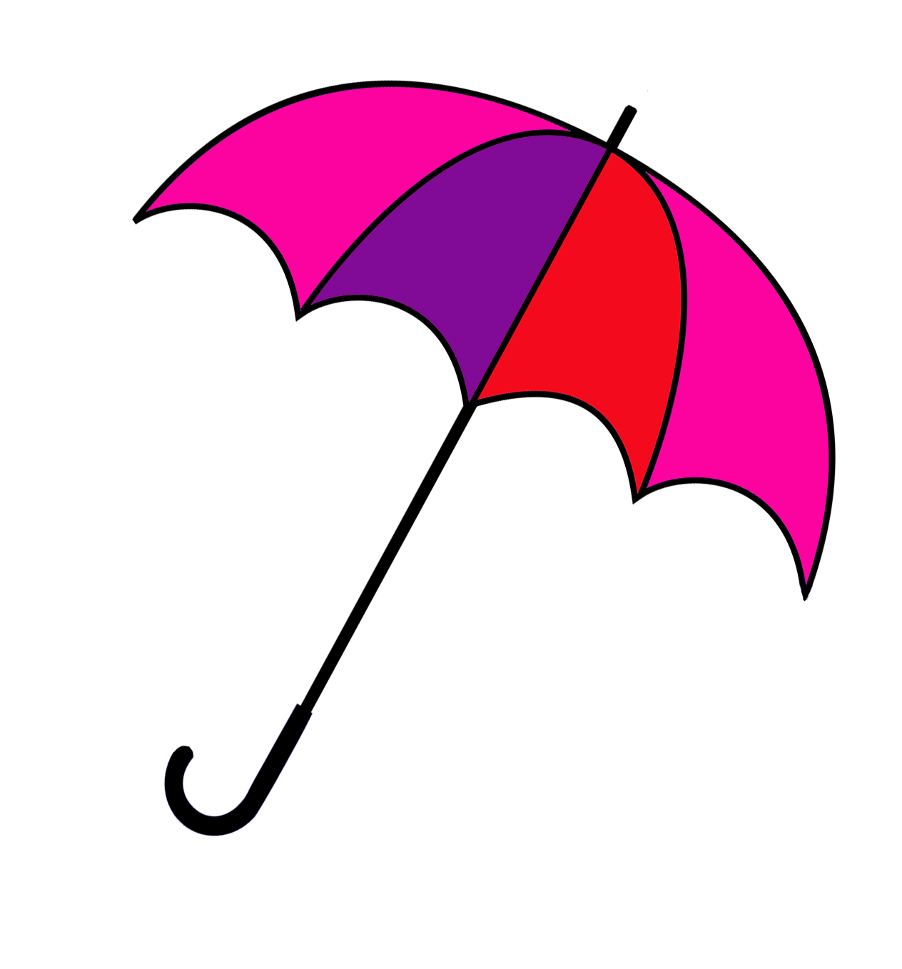 pink and red umbrella image