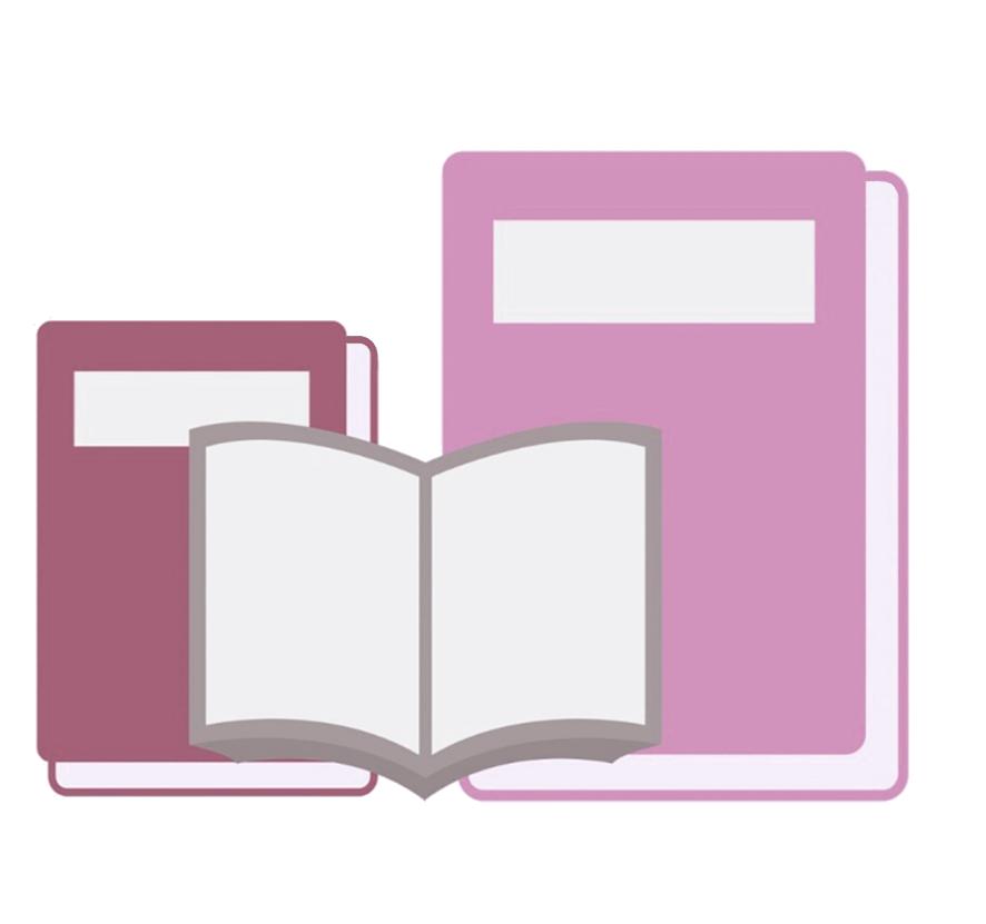 pink books open book clipart