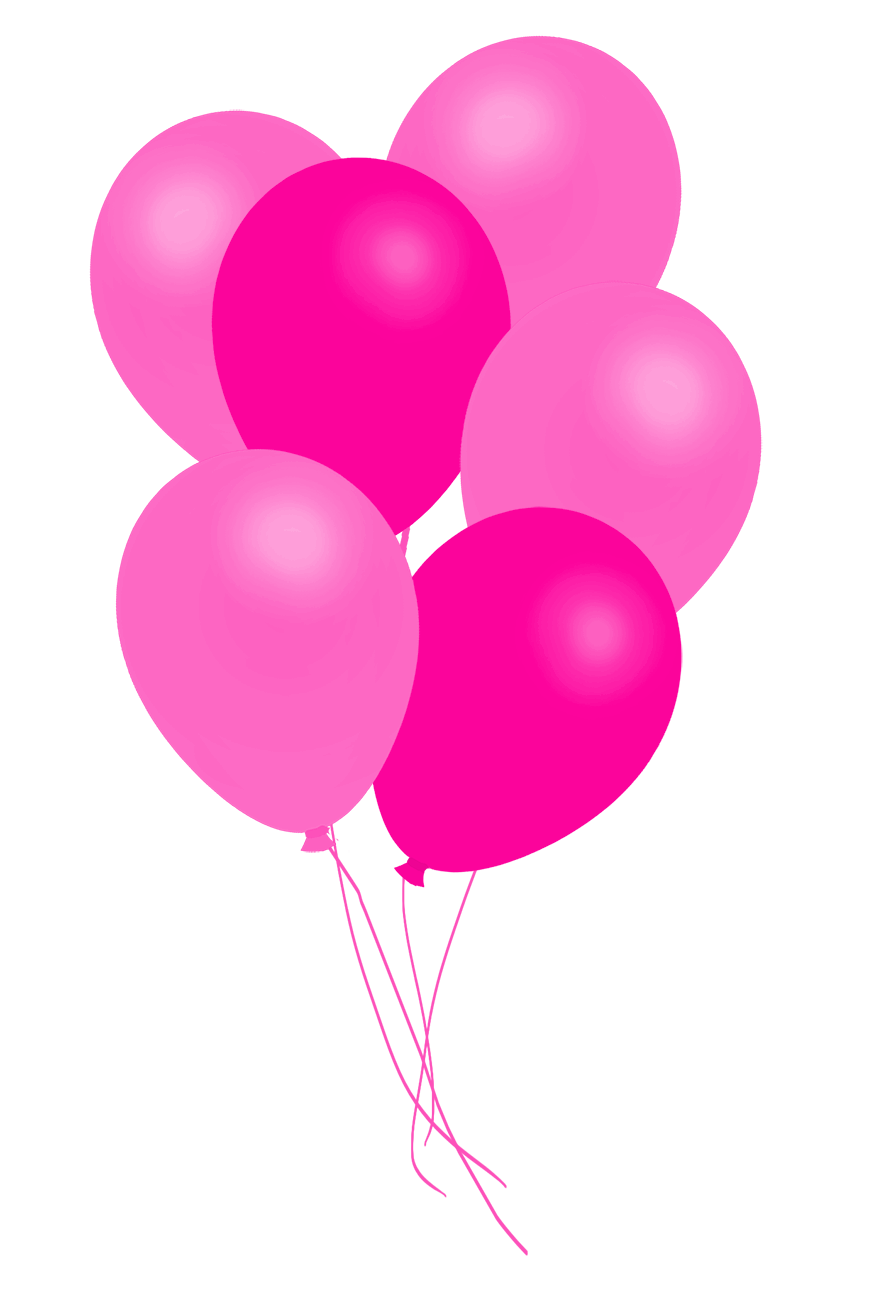 pink bunch of balloons