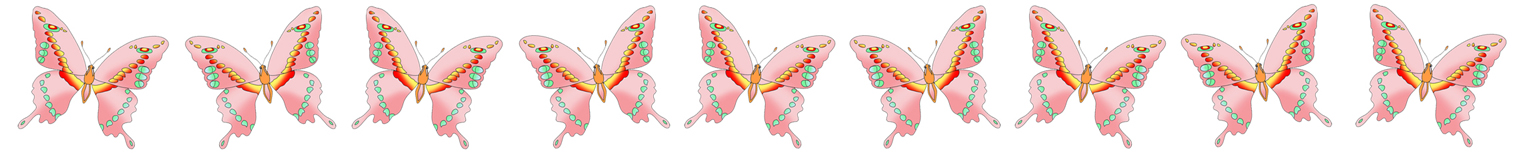 different ways pink butterflies