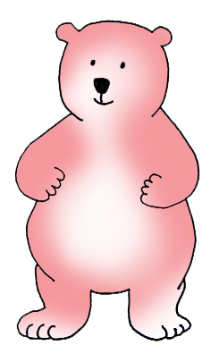 pink cartoon bear