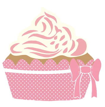 pink cup cake for tea party