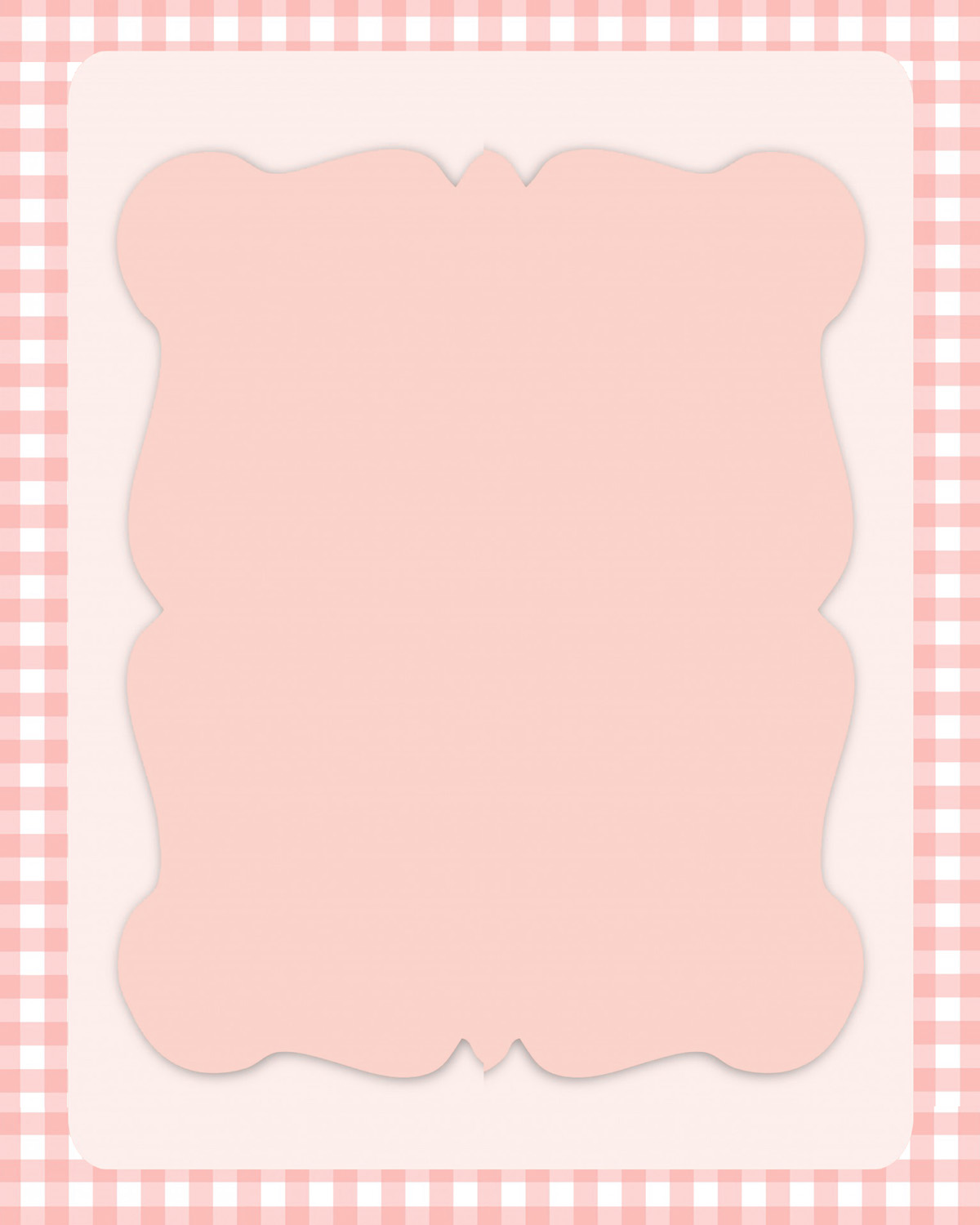 pink frame with checkered border