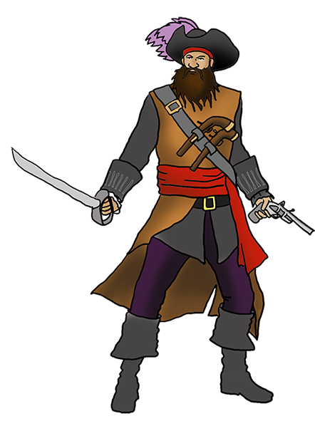 pirate blackbeard clipart