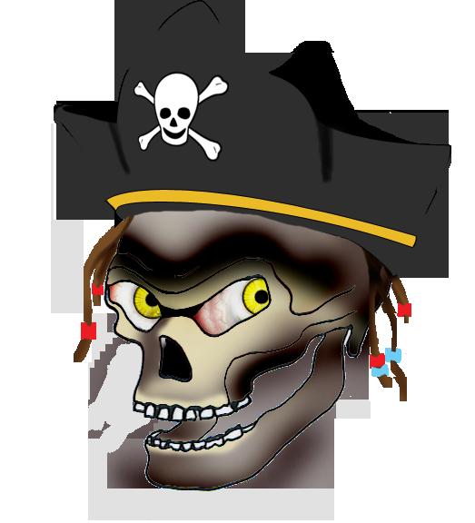 pirate captain skull