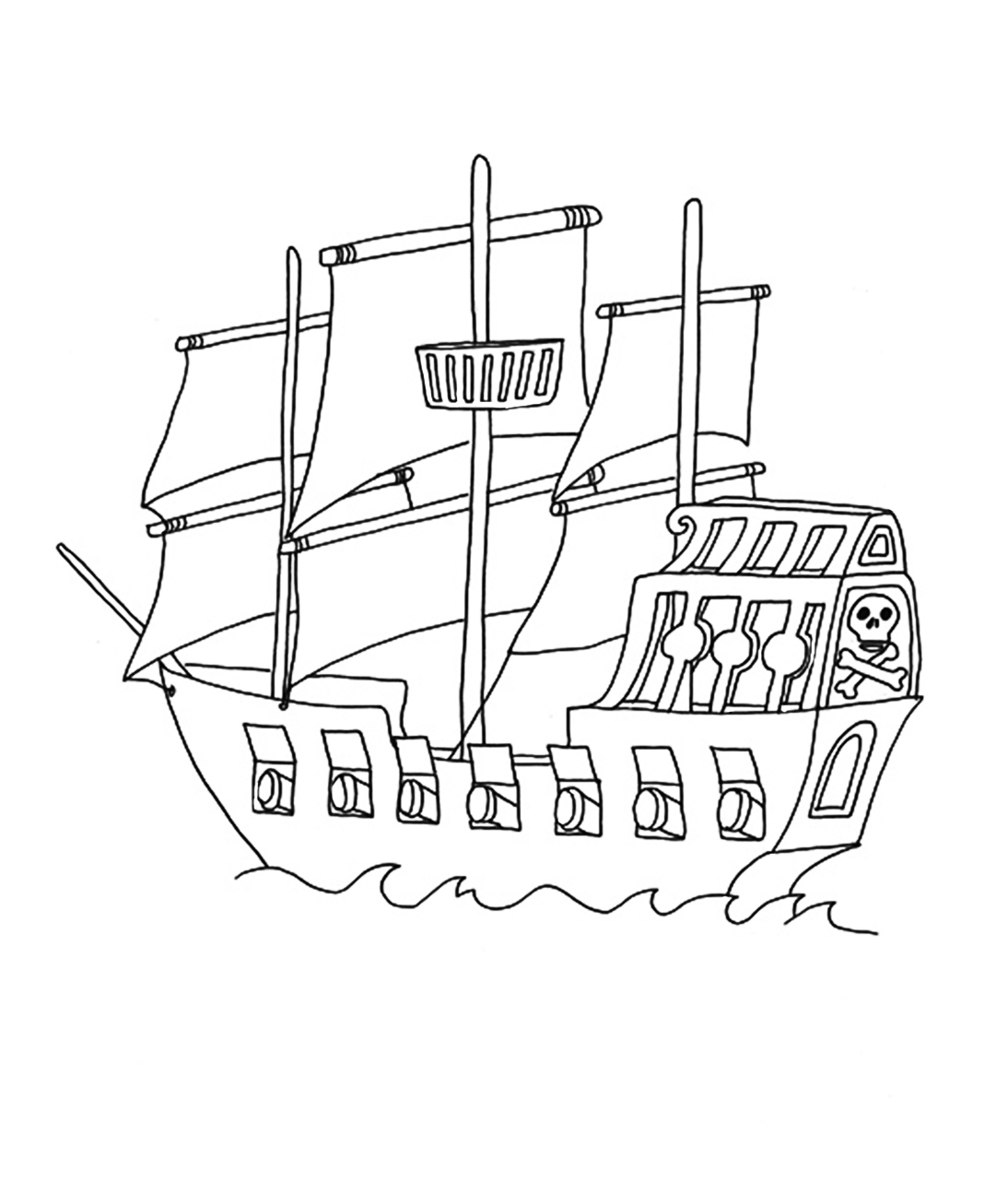 pirate ship coloring pages