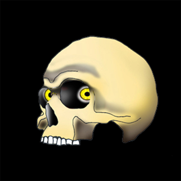 pirate evil scull with eyes