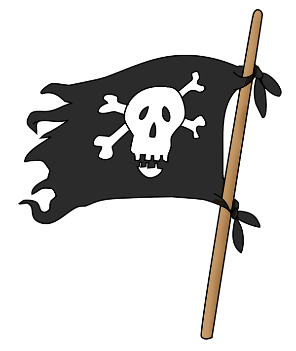 pirate flag with scull and bones