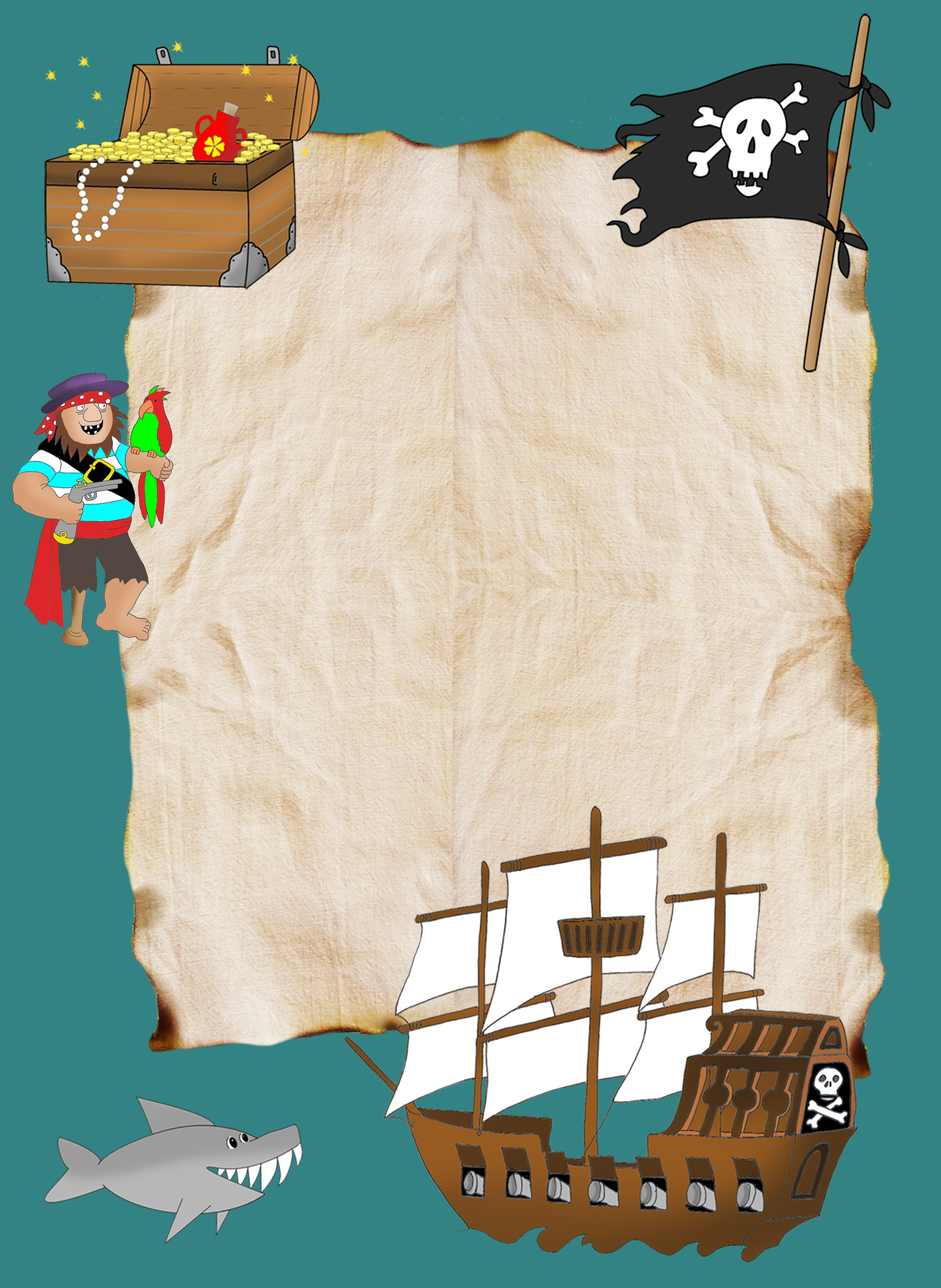 pirate treasure hunt map