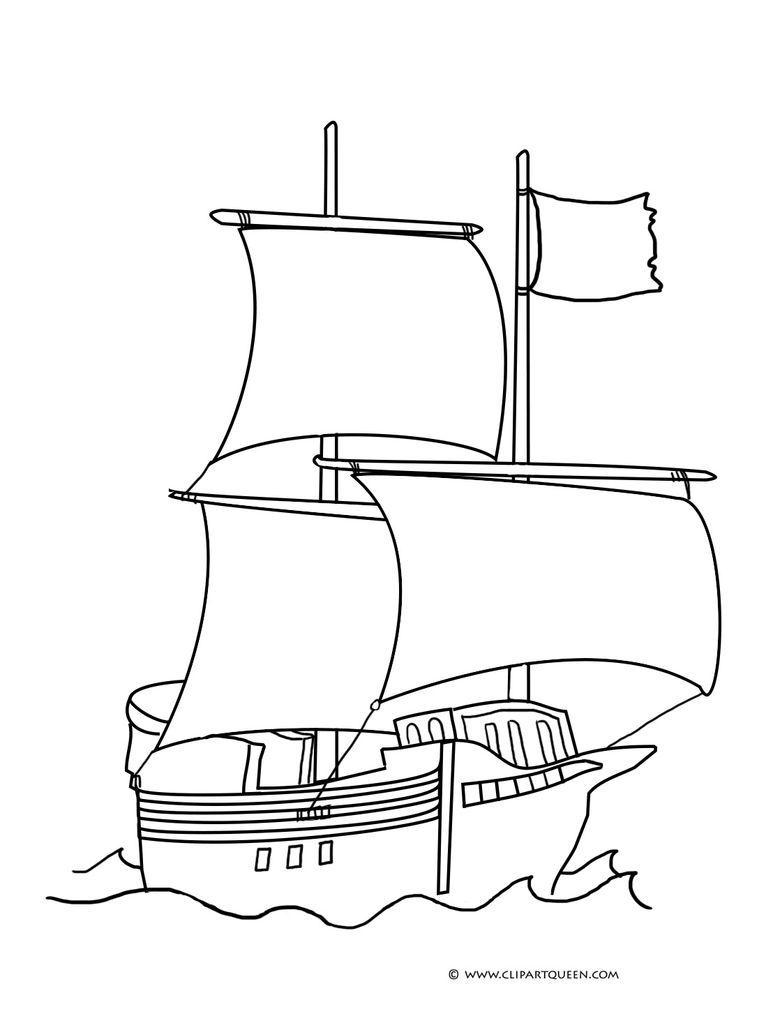 pirate ship coloring sheet