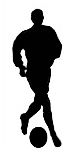 playing soccer silhouette