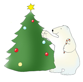 polar bear pictures christmas tree star