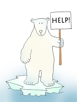 Endangered polar bears clip art