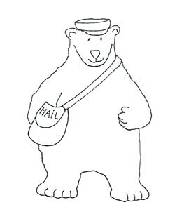 mailman polar bear sketch clip art