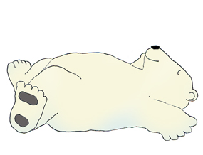 polar bear clip art sleeping polar bear