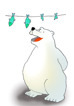 pictures of polar bears bear with fish