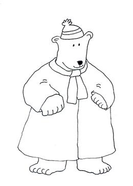 polar bear pictures warm coat sketch