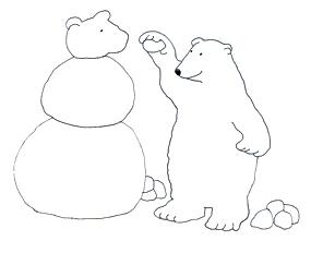 polar bear cliip art making snowbear
