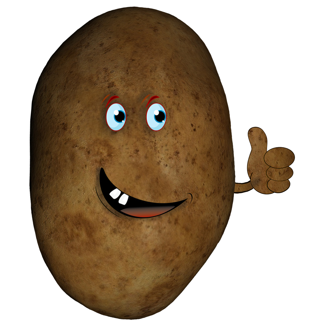 potato head with hand
