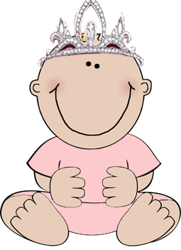 1st birthday party clipart girl princess