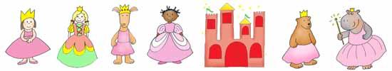 princess party ideas border with clip art
