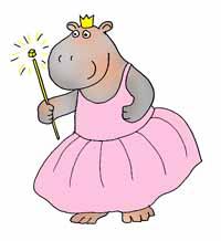hippo princess with magic wand