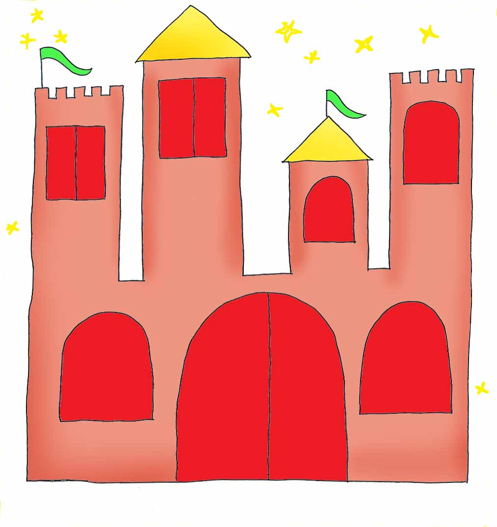 princess party castle for invitations