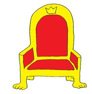 princess party throne