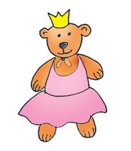 teddy bear princess