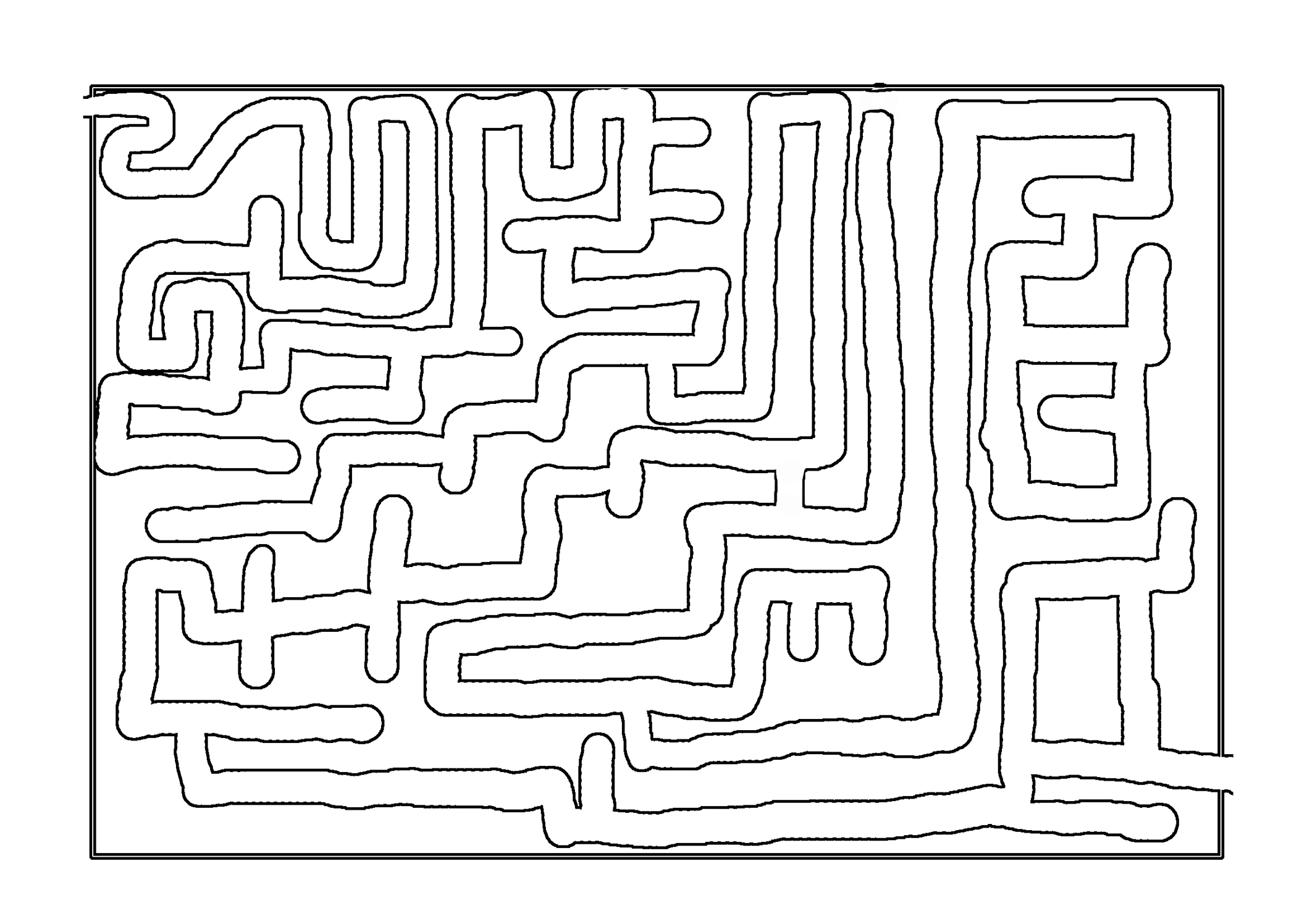 printable maze for adults