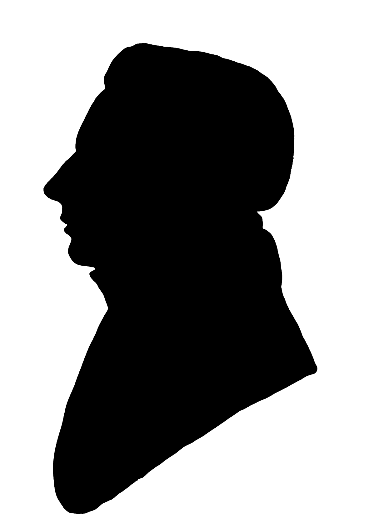 face silhouette 19th century
