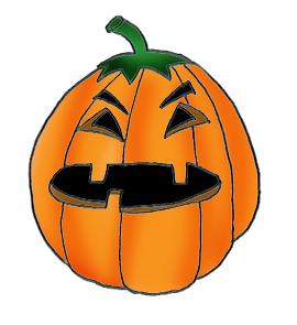 Angry pumpkin head clip art