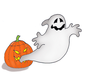 pumpkin clip art with ghost