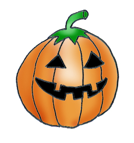smiling pumpkin clipart